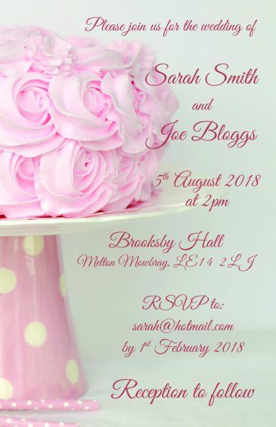 Fuzzy Flamingo Wedding Invite 3